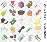 set of 25 icons such as pepper  ...