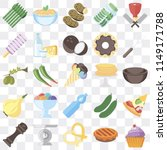 set of 25 icons such as cupcake ...
