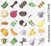 set of 25 icons such as grinder ... | Shutterstock .eps vector #1149171848