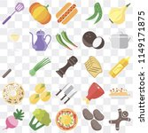 set of 25 icons such as... | Shutterstock .eps vector #1149171875