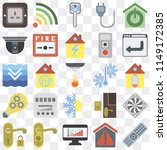set of 25 icons such as remote  ... | Shutterstock .eps vector #1149172385