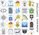 set of 25 icons such as sensor  ...