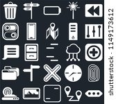 set of 25 icons such as more ...