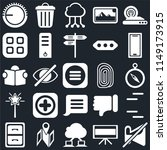 set of 25 icons such as muted ...