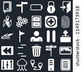 set of 25 icons such as note ...