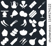 set of 25 icons such as salt ...