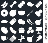 set of 25 icons such as grinder ... | Shutterstock .eps vector #1149174128