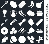 set of 25 icons such as... | Shutterstock .eps vector #1149174152