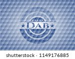 dab blue badge with geometric... | Shutterstock .eps vector #1149176885