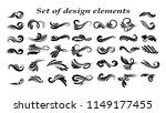 swirly line curl patterns...   Shutterstock . vector #1149177455