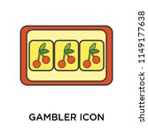 gambler icon vector isolated on ... | Shutterstock .eps vector #1149177638