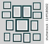 wall picture frame templates... | Shutterstock . vector #1149180602