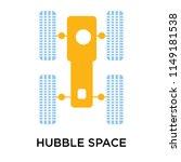 hubble space telescope icon... | Shutterstock .eps vector #1149181538