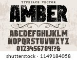 font handcrafted typeface... | Shutterstock .eps vector #1149184058