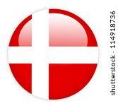 denmark flag button on white