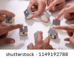 group of people touching... | Shutterstock . vector #1149192788