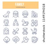 family and parenthood doodle...   Shutterstock .eps vector #1149194318