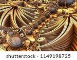 gold fractal landscape  ... | Shutterstock . vector #1149198725