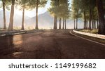 street in the mountains  3d... | Shutterstock . vector #1149199682