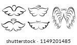 angel wings drawing... | Shutterstock . vector #1149201485