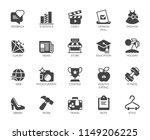 20 glyph icons on fashion ... | Shutterstock .eps vector #1149206225