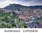 view of Monaco, Monte Carlo - stock photo