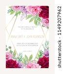 wedding floral  invitation ... | Shutterstock .eps vector #1149207962