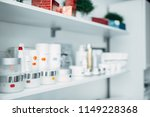shelf with creams  rejuvenation ... | Shutterstock . vector #1149228368