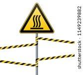safety sign. beware of danger ... | Shutterstock .eps vector #1149239882