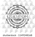 question realistic grey emblem... | Shutterstock .eps vector #1149248168