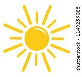 a cartoon shape of bright... | Shutterstock .eps vector #1149259085