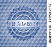 free admission blue hexagon... | Shutterstock .eps vector #1149260492