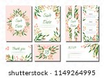 wedding card templates set with ... | Shutterstock .eps vector #1149264995