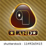 gold shiny badge with toilet... | Shutterstock .eps vector #1149265415
