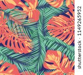summer exotic floral tropical... | Shutterstock .eps vector #1149265952