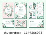 floral wedding invite with... | Shutterstock .eps vector #1149266075