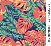 summer exotic floral tropical... | Shutterstock .eps vector #1149266708