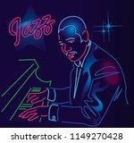 jazz piano man | Shutterstock .eps vector #1149270428