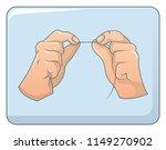 dental floss in hands concept... | Shutterstock .eps vector #1149270902