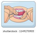 dental floss use concept...   Shutterstock .eps vector #1149270905