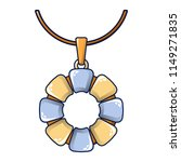 flower necklace icon. cartoon... | Shutterstock .eps vector #1149271835