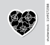 heart with roses illustration... | Shutterstock .eps vector #1149272588