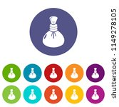 spa hot compress icons color... | Shutterstock .eps vector #1149278105