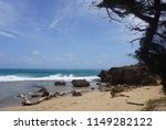 tropical beach in kauai  hawaii | Shutterstock . vector #1149282122