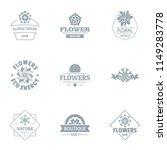 flower meadow logo set. simple... | Shutterstock .eps vector #1149283778