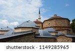 ottoman hamam and mosque on...   Shutterstock . vector #1149285965
