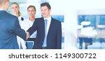 full length image of two... | Shutterstock . vector #1149300722