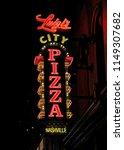 luigi's pizza restaurant neon... | Shutterstock . vector #1149307682