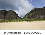 scenic beach in kauai  hawaii.... | Shutterstock . vector #1149309392