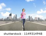 low angle view of happy... | Shutterstock . vector #1149314948